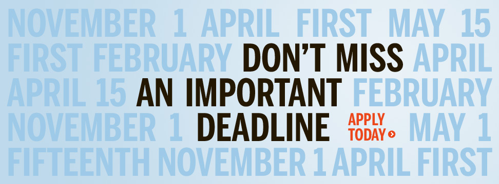 Don't Miss an Important Deadline