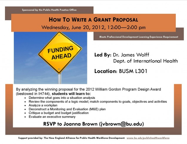 """""""how to write a grant proposal"""" with wolffy june 20th at"""