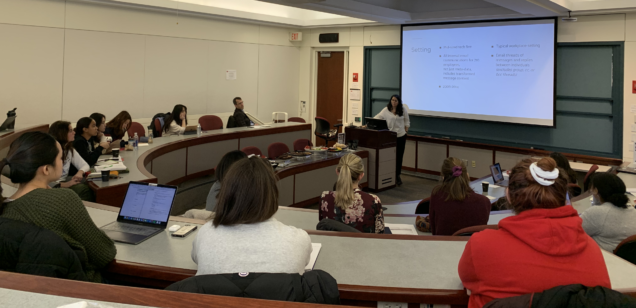 Sanaz Mobasseri Gives Talk About Gender And Emotional Contagion In The Workplace Rafik Hariri Institute For Computing And Computational Science Engineering