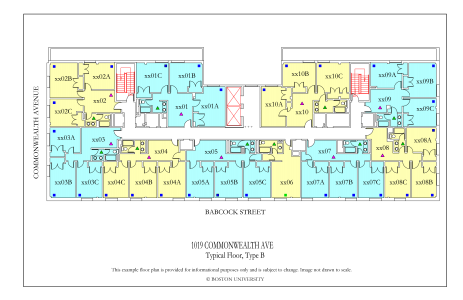1019 Commonwealth Ave Floor Plan 187 Housing Boston University