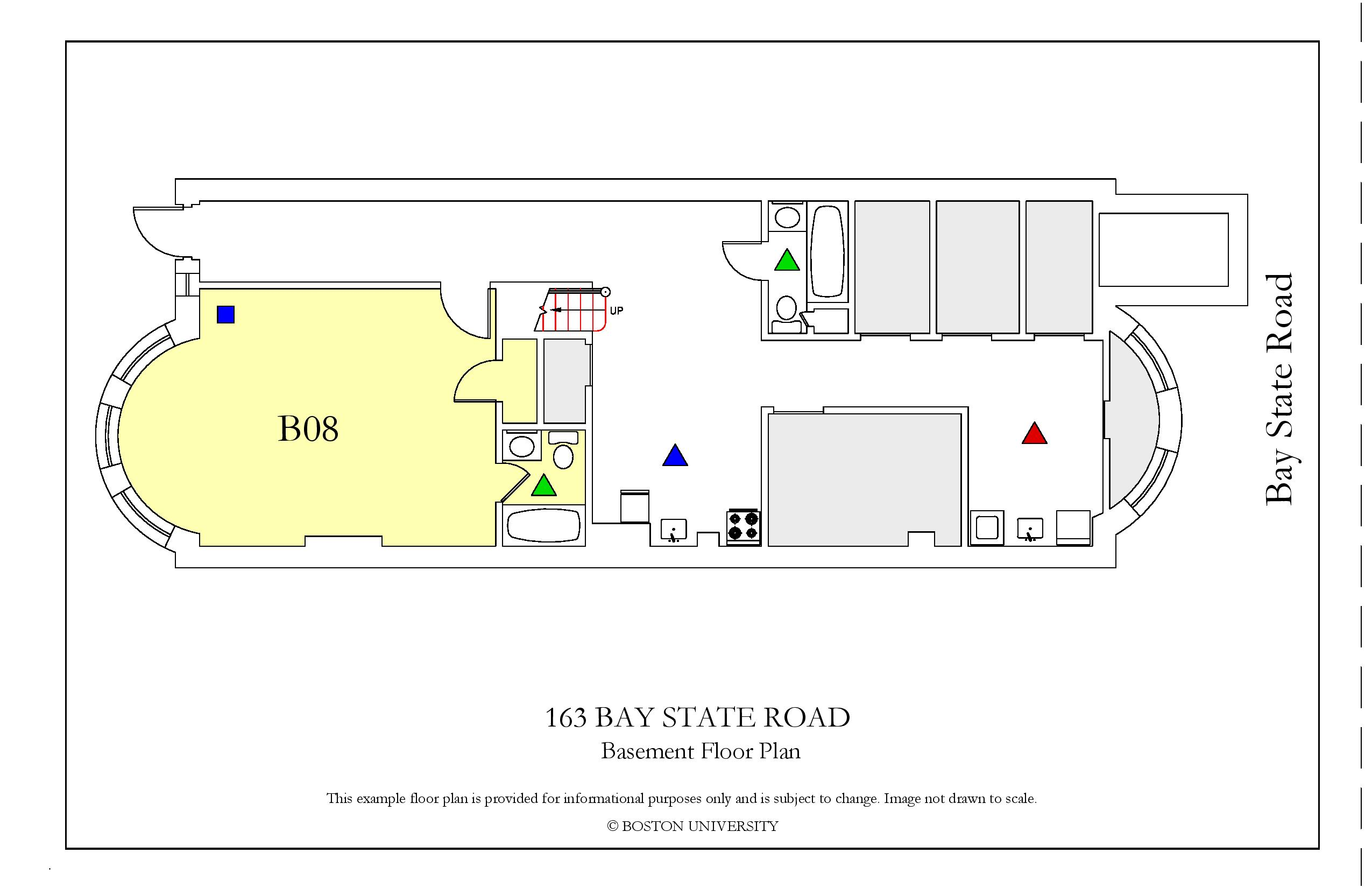 163 Bay State Road Housing Boston University Example Diagram Basement Page 001