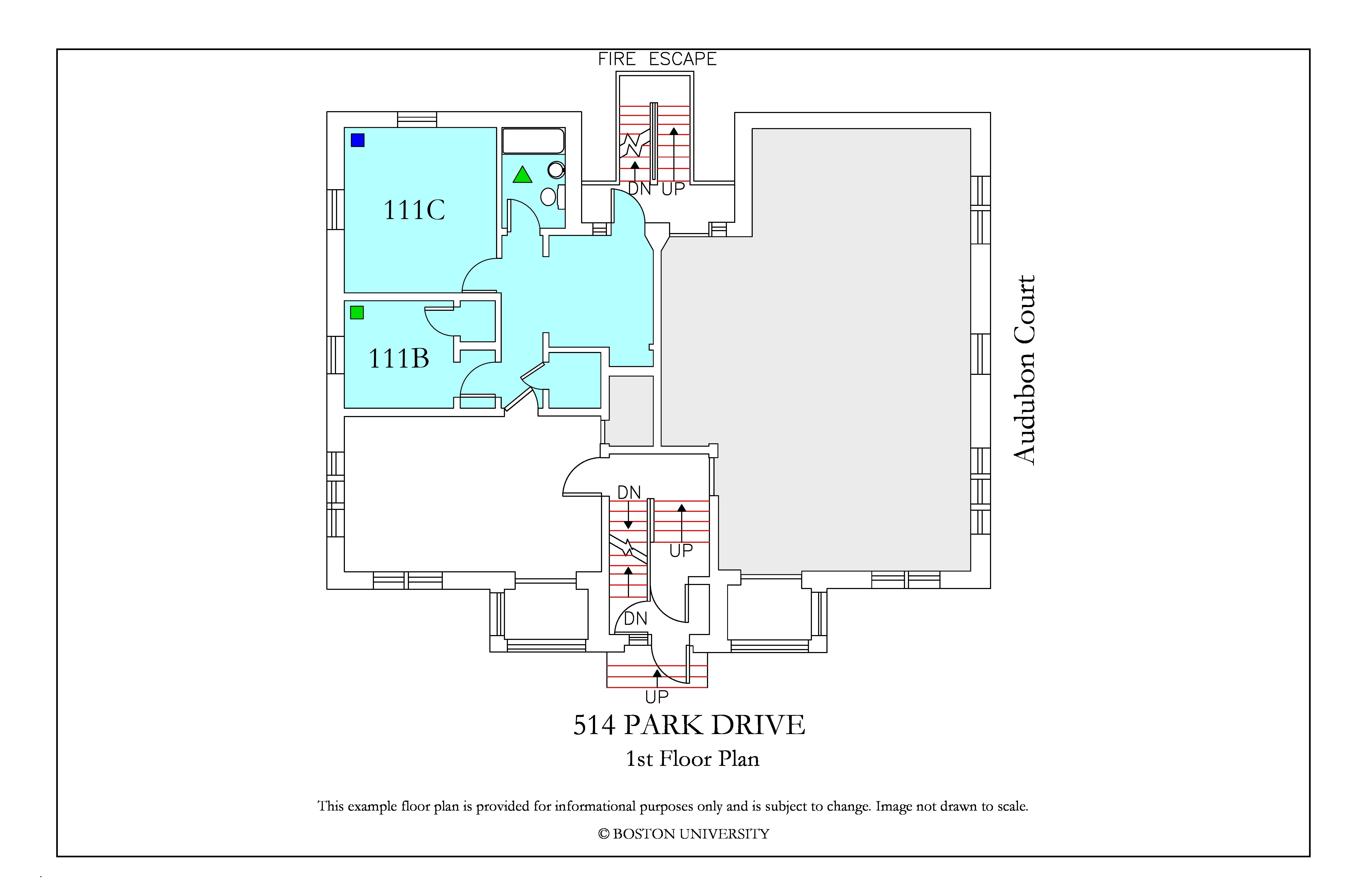 Bu Housing Floor Plans: 514 Park Drive » Housing