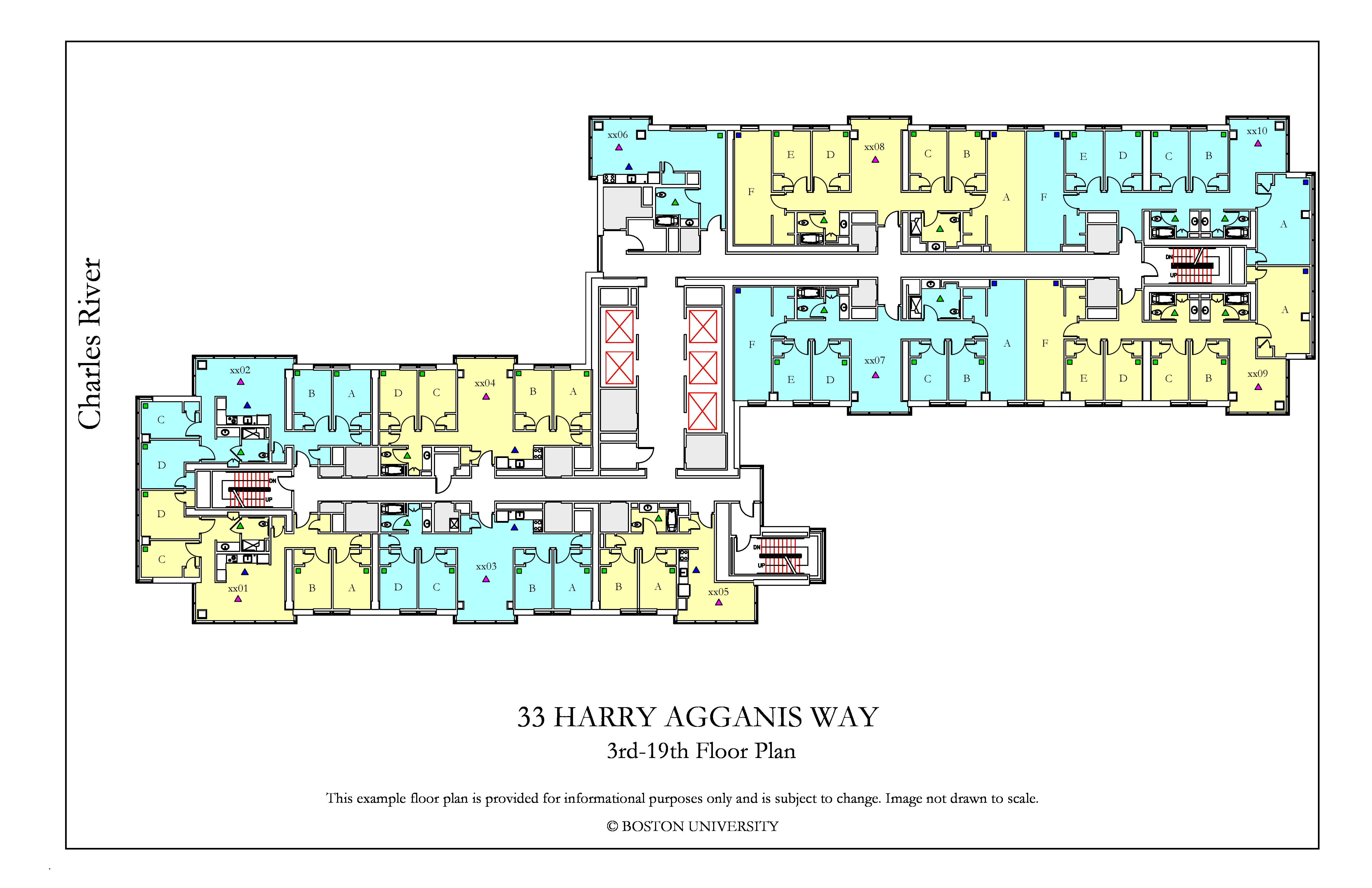 33 Harry Agganis Way Floor Plan 187 Housing Boston University
