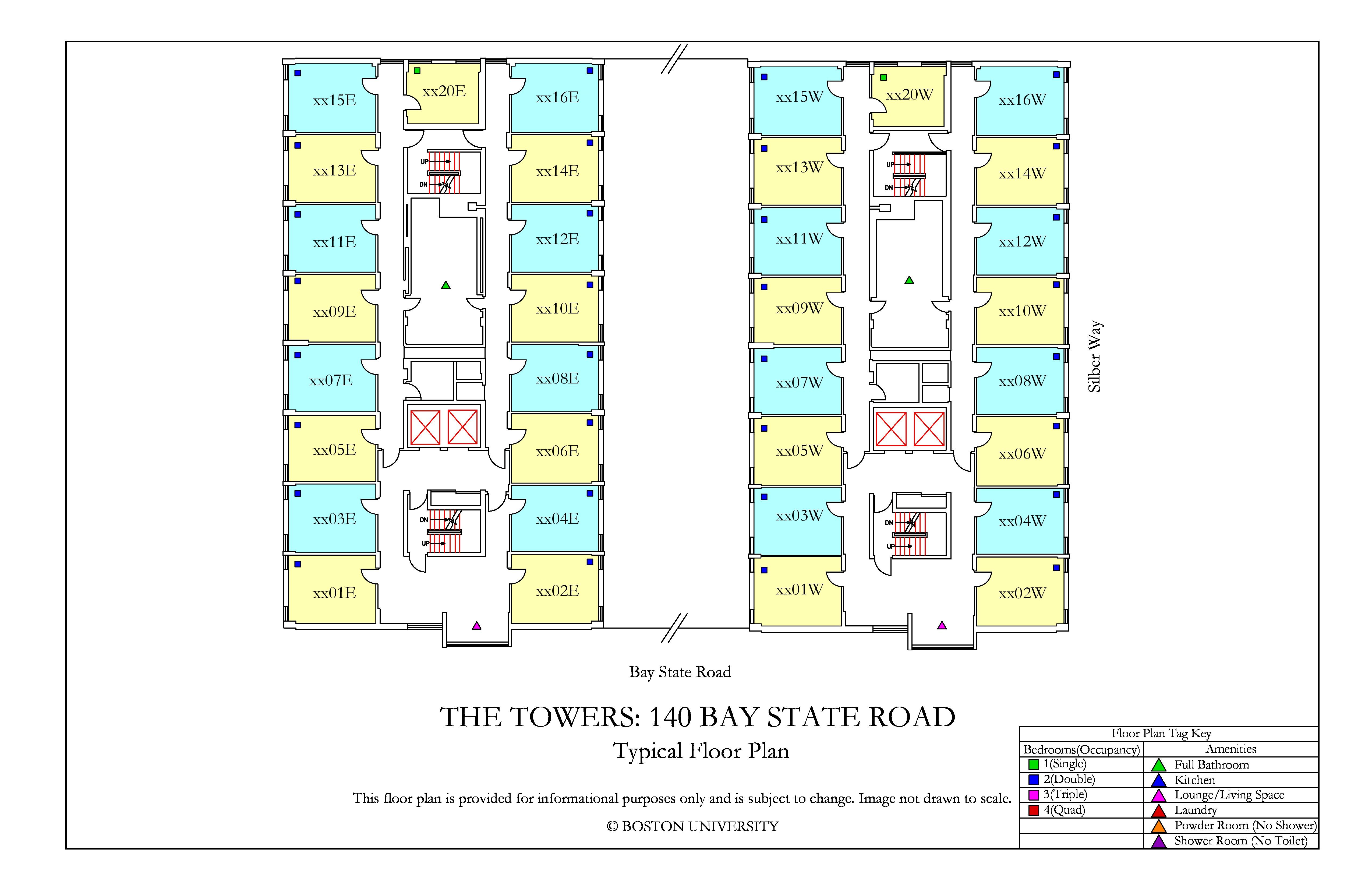 Bu Housing Floor Plans: The Towers Floor Plan » Housing