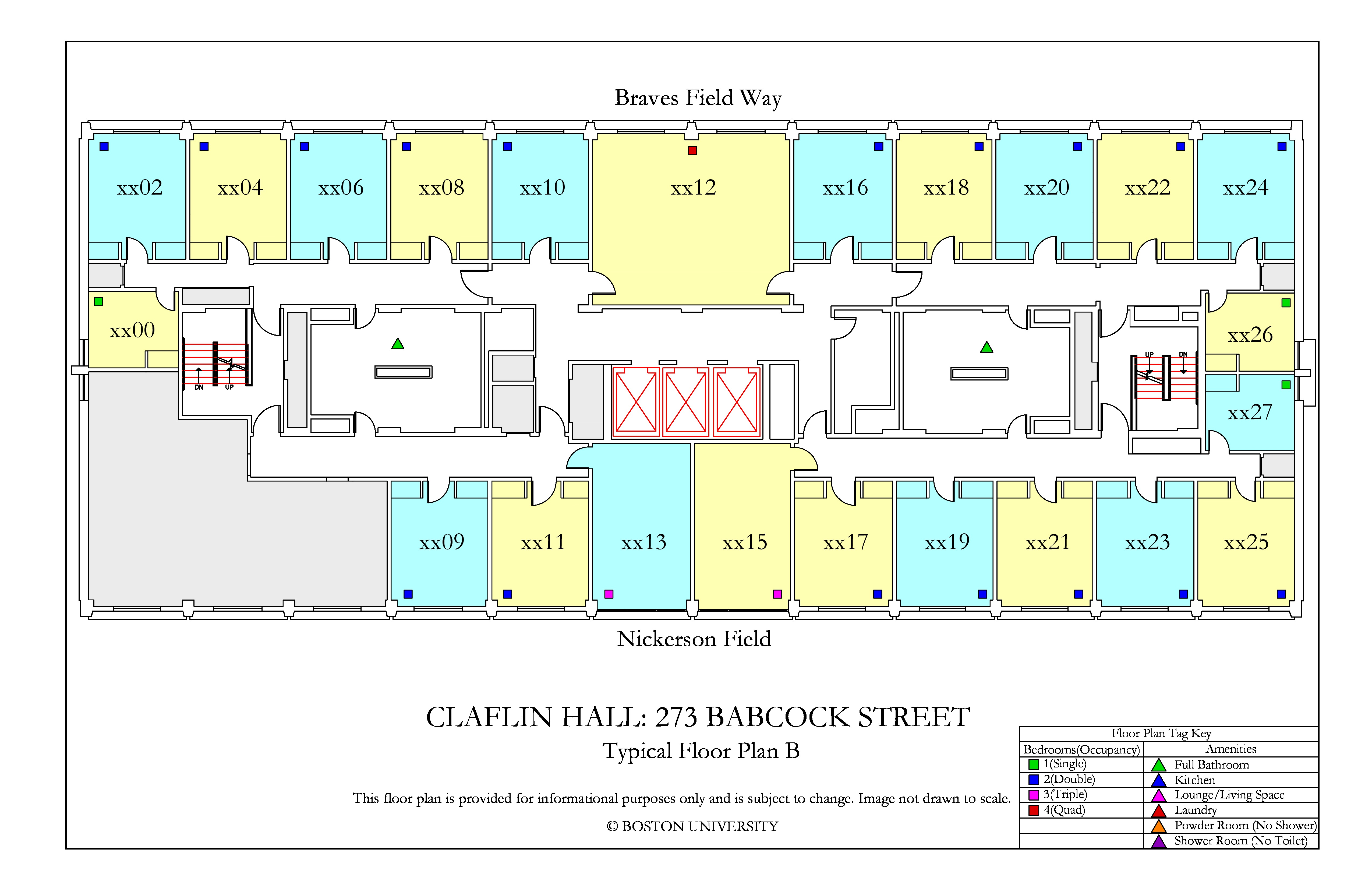 Claflin Hall 187 Housing Boston University