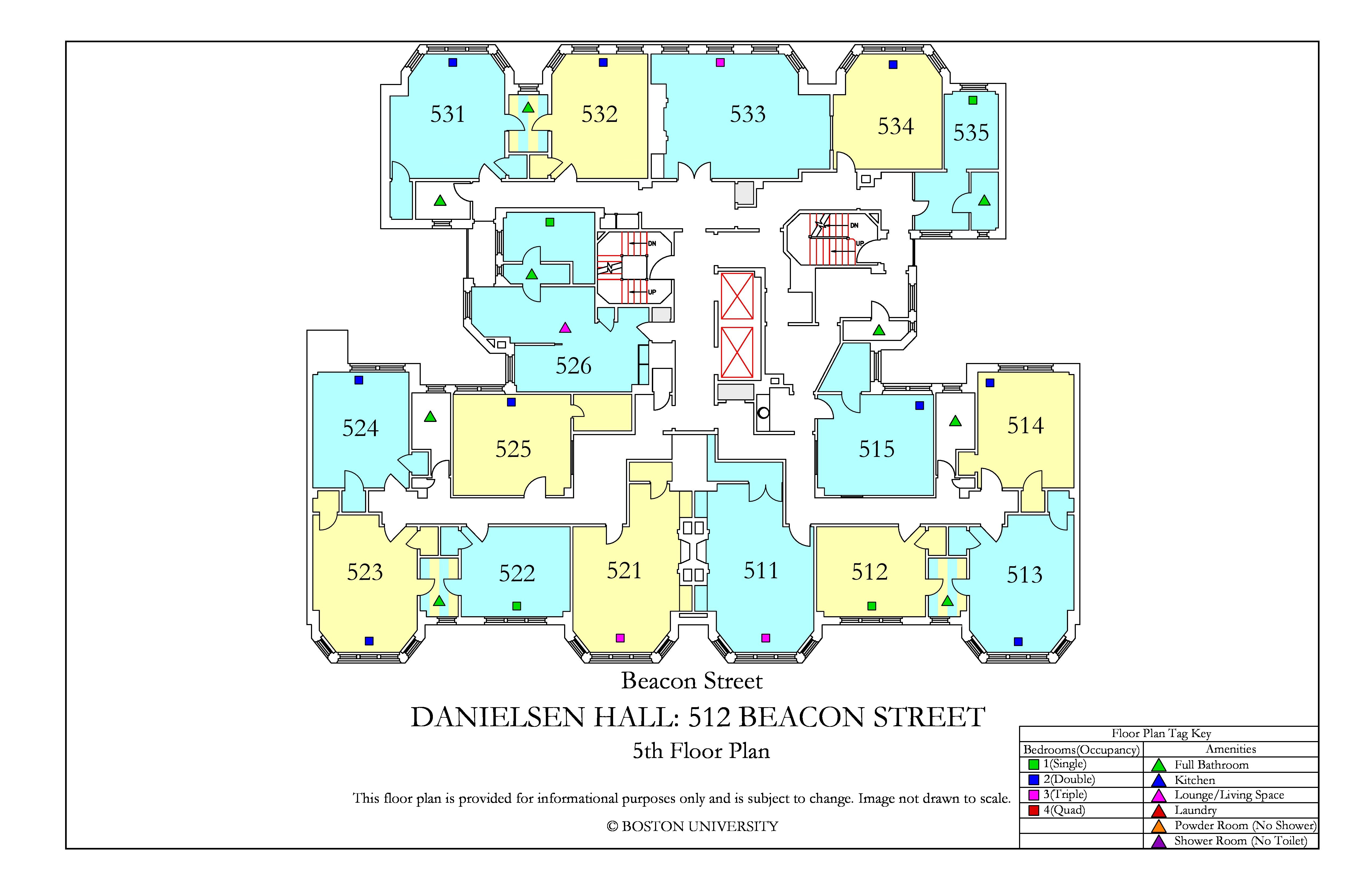 Bu Housing Floor Plans: Danielsen Hall Floor Plan » Housing