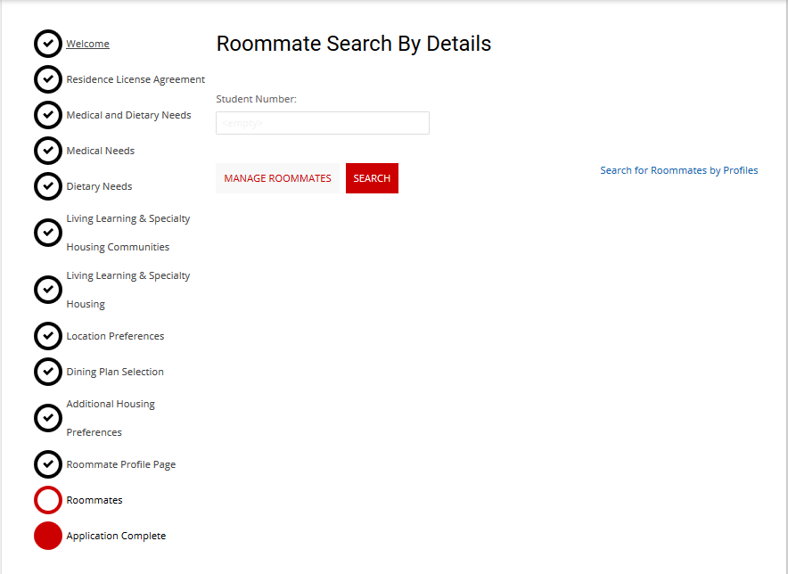 Roommate Search By Details