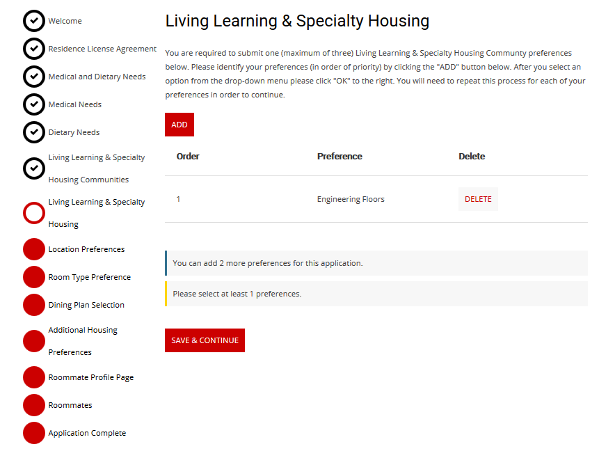 transfer specialty housing C