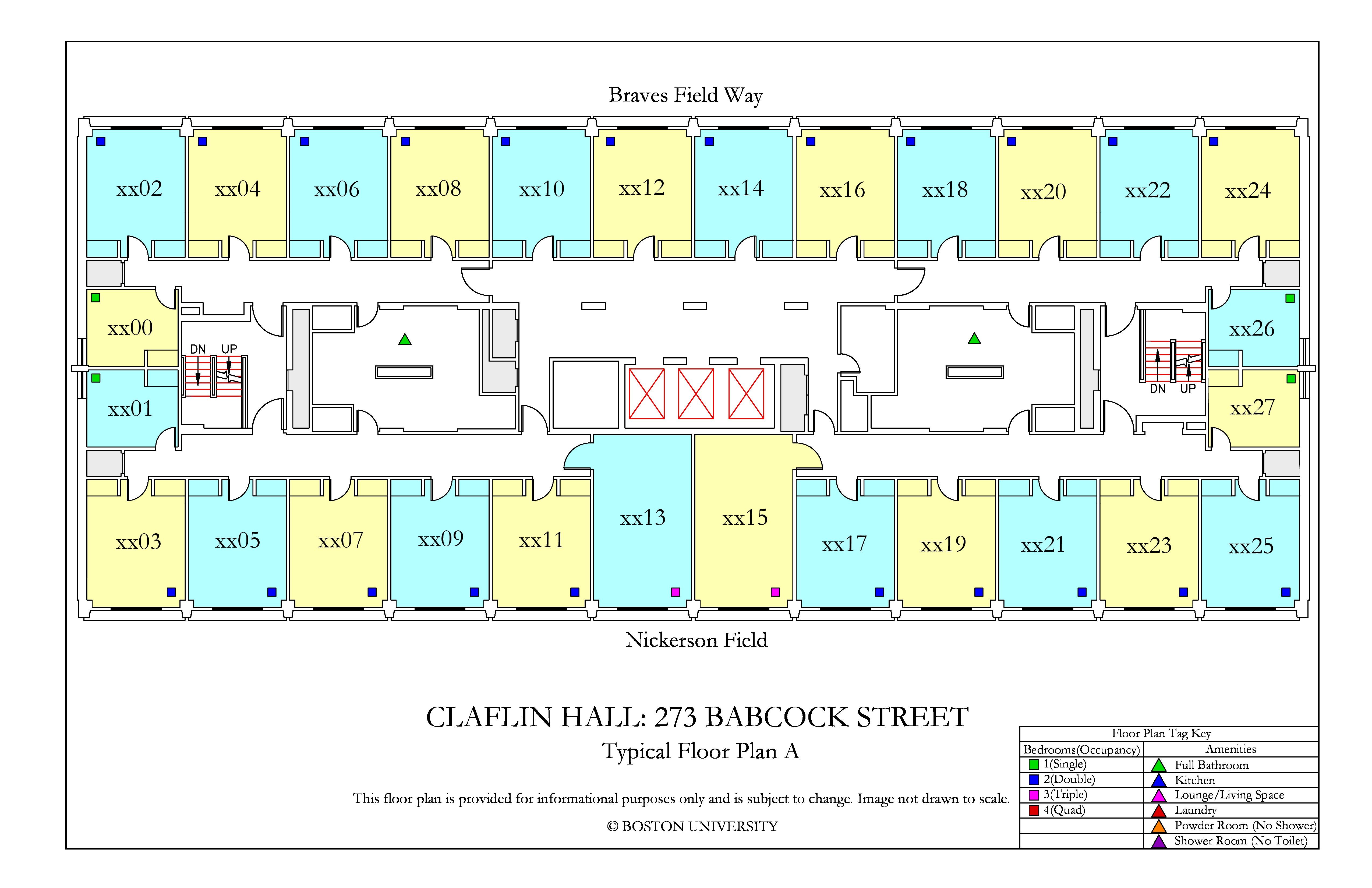 Claflin Hall 187 Housing Boston University
