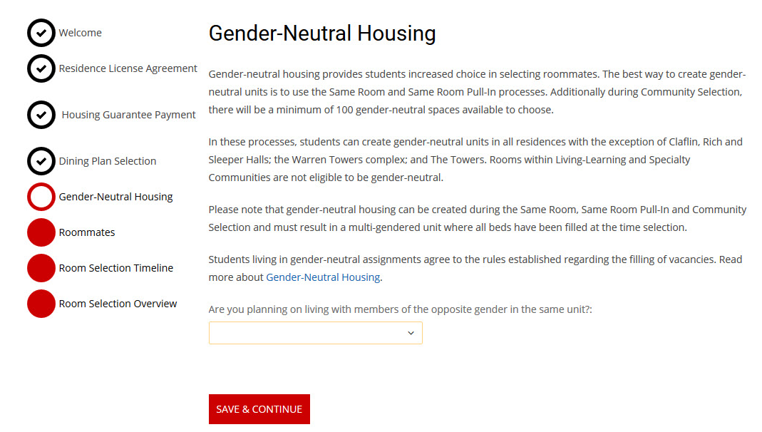 Gender-Neutral Housing