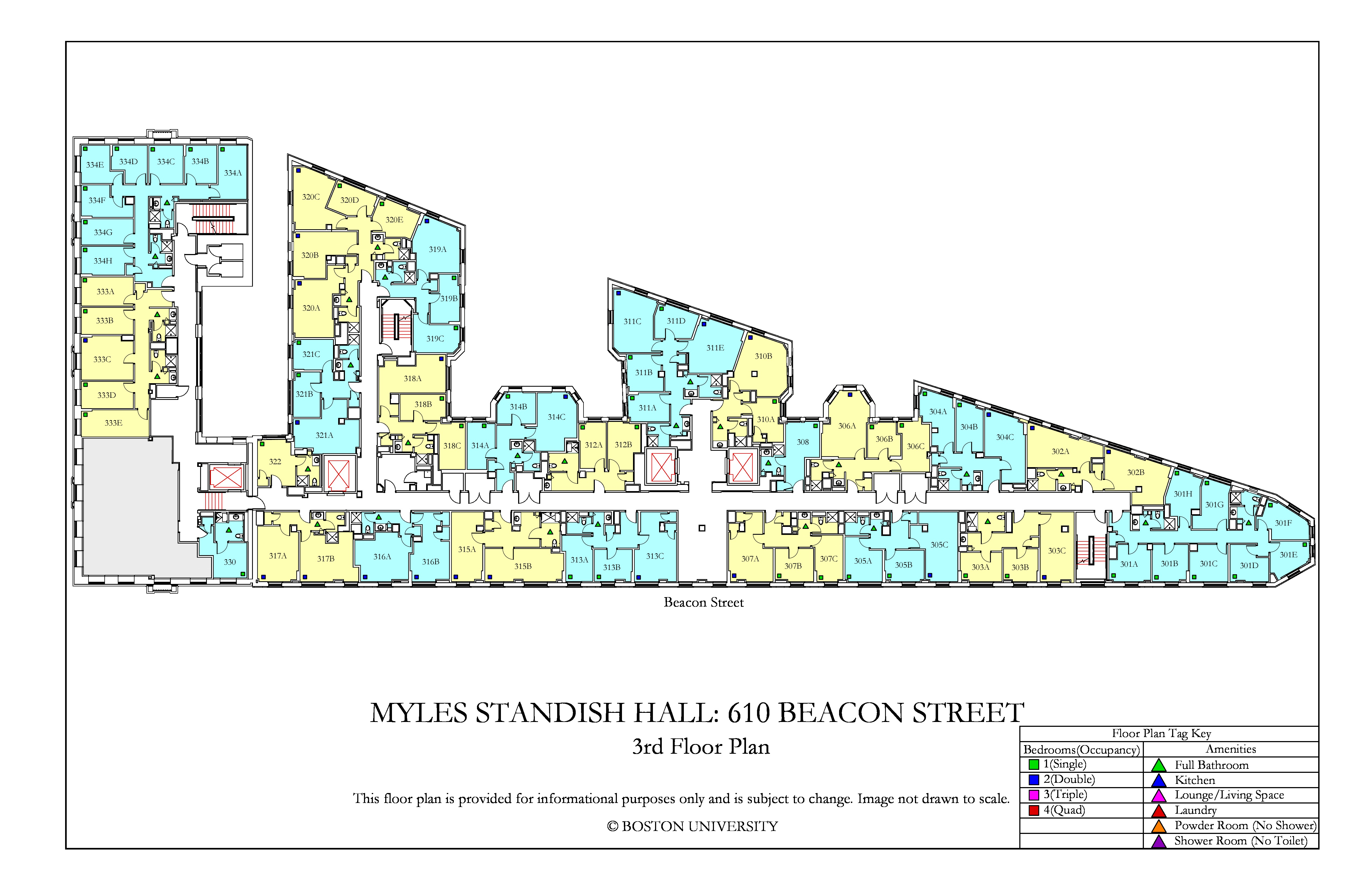 Bu Housing Floor Plans: Myles Standish Hall Floor Plan » Housing