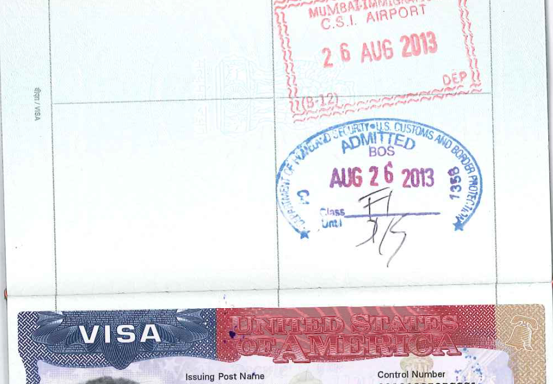 Us Port Of Entry Stamp