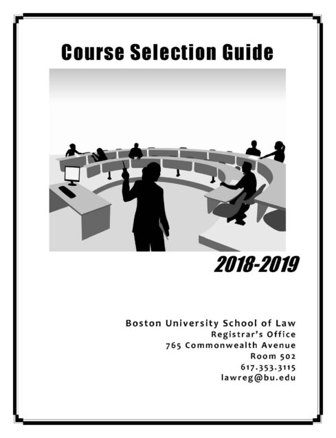 Bu Law Course Selection Guide School Of Law