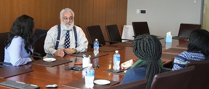 Quentin Pair ('71) meets with BU Law students