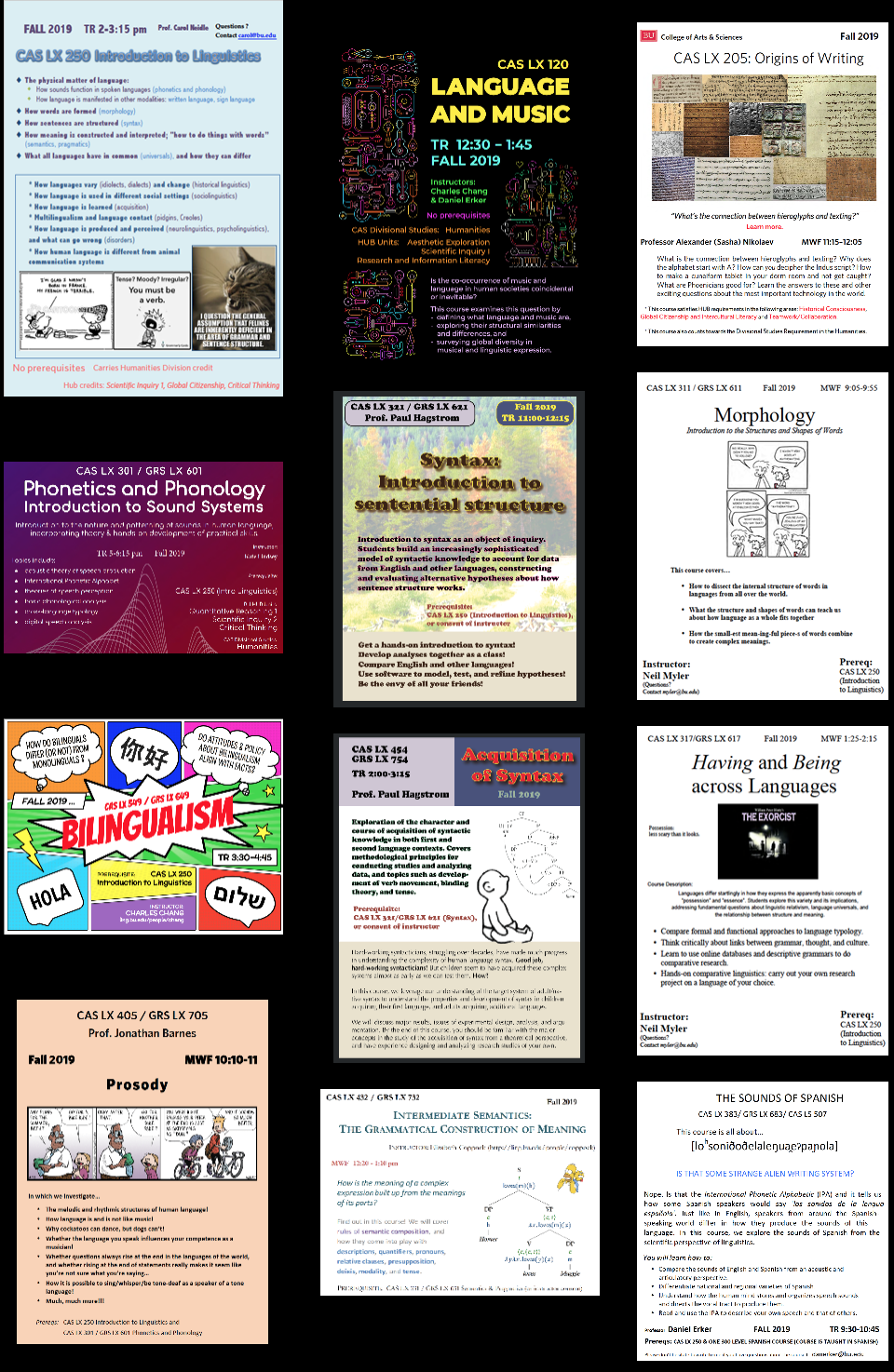 CAS Linguistics Program, Boston University   Linguistics