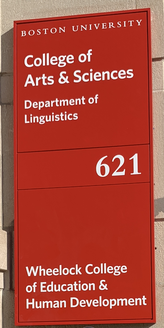 CAS Linguistics Program, Boston University   Linguistics   Boston