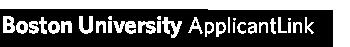 ApplicantLink   Boston University