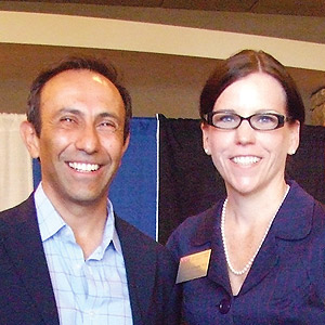 Professors Enrique Silva and Danielle Rousseau