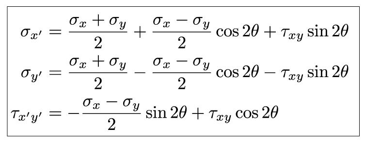 Mechanics of Materials: Stress Transformation » Mechanics of