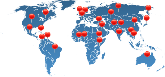 Online BU Students World Map