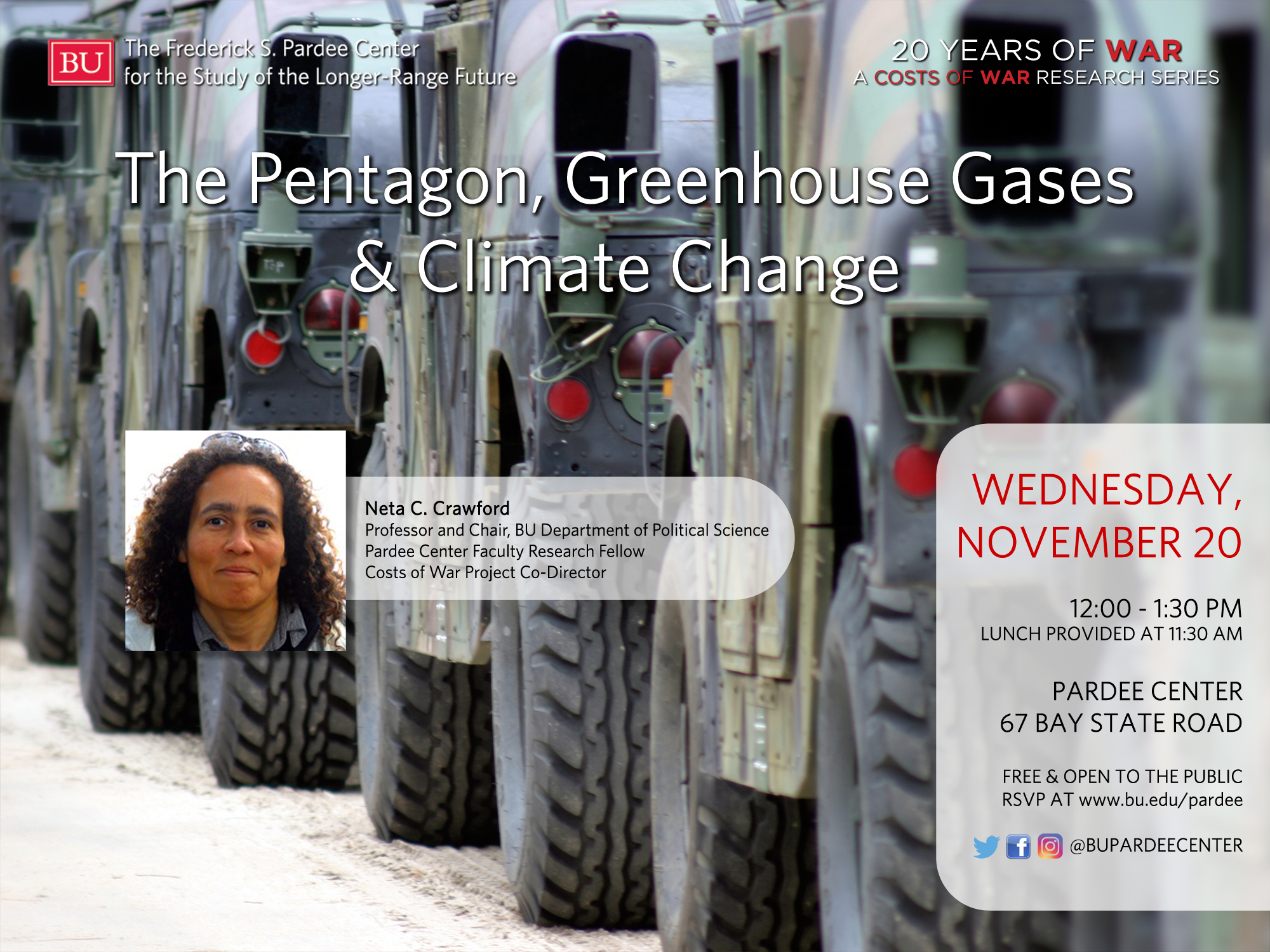 """Upcoming Seminar: """"The Pentagon, Greenhouse Gases & Climate Change"""" 