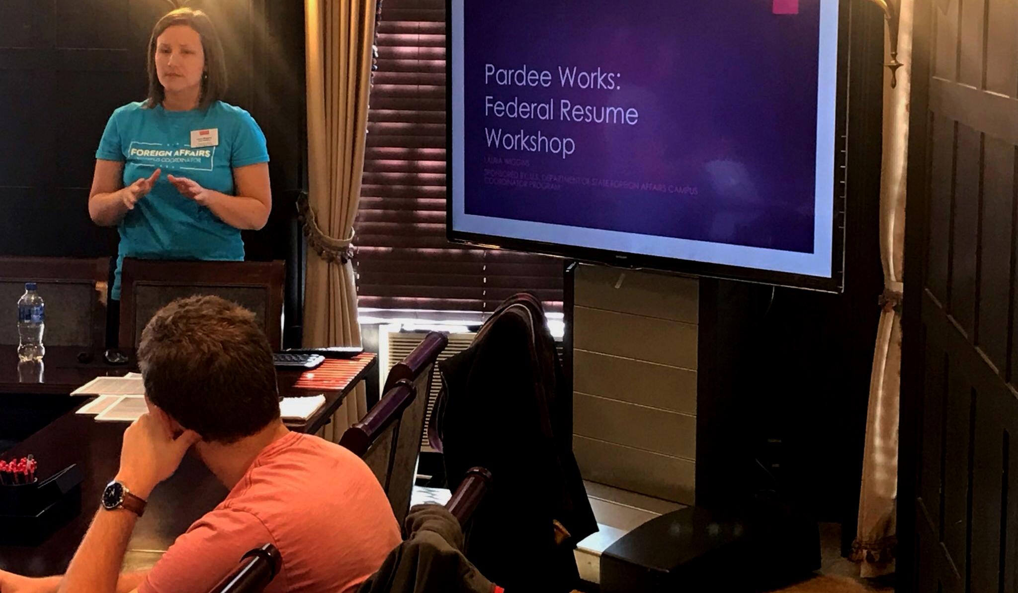 Pardee Works: Federal Resume Workshop | The Frederick S  Pardee