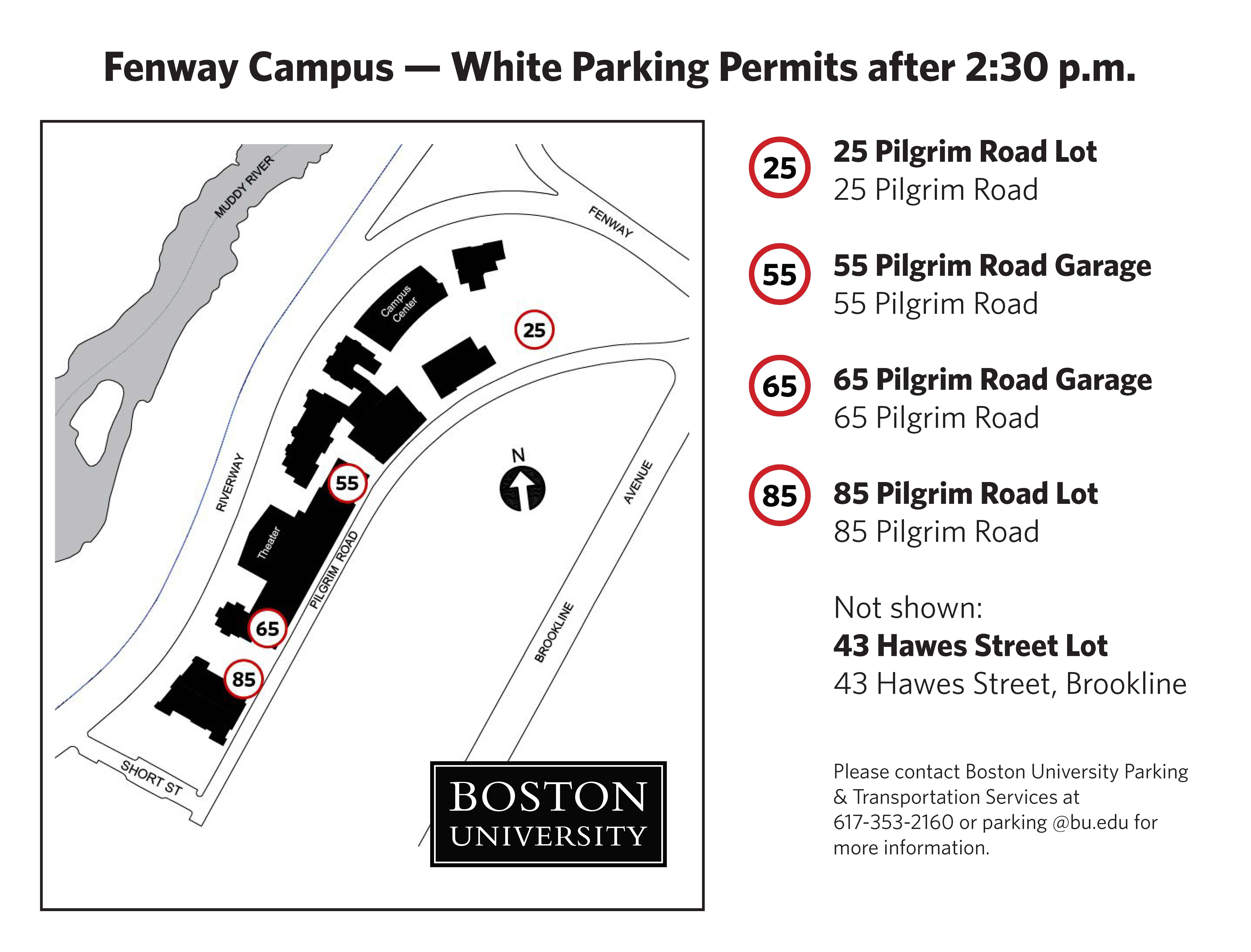 White Permit 187 Parking Amp Transportation Services Boston