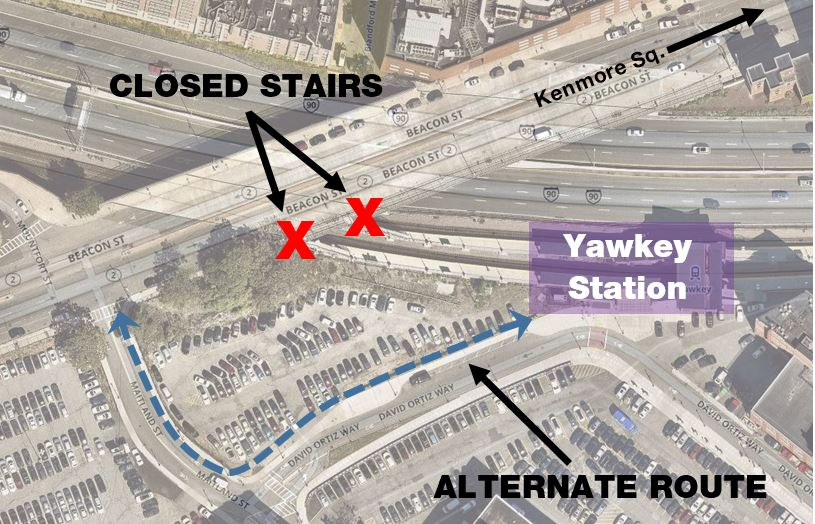 MBTA Notice Regarding Yawkey Station Access » Parking