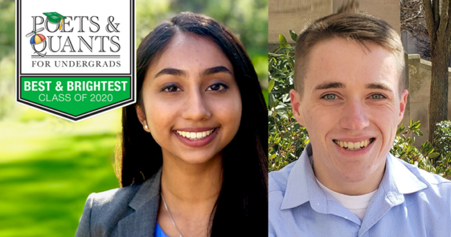 Two Questrom Undergrads Make Poets & Quants' 2020 Best & Brightest List