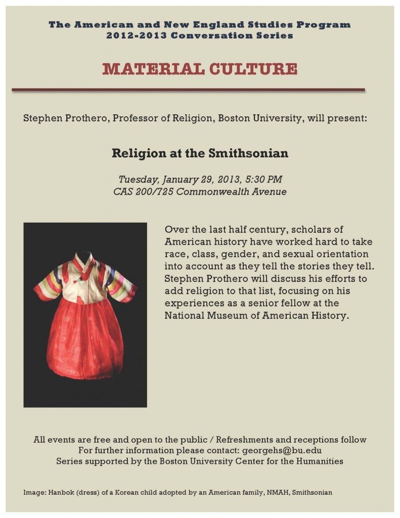 Material Culture Symposium flyer-Prothero Lecture