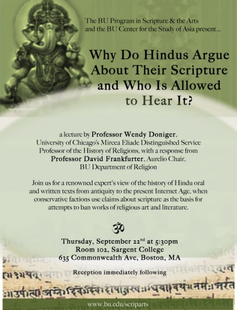 Doniger event flyer 6