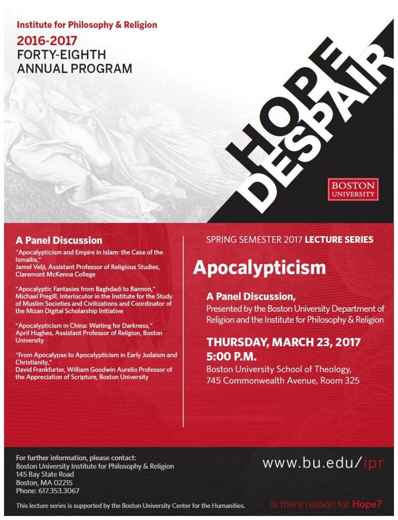 IPR Revised Apocalypticism Flyer