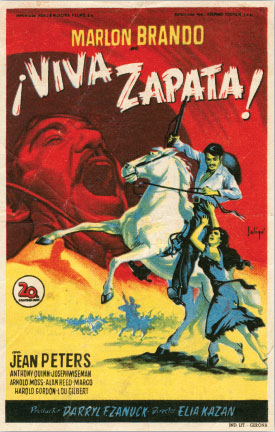 A movie poster for 1952's Viva Zapata! Image from Corbis