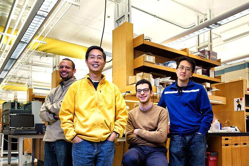 Bio Design team (Doug Densmore, Chris Chen, Mo Khalil, Wilson Wong) for BU Research story.