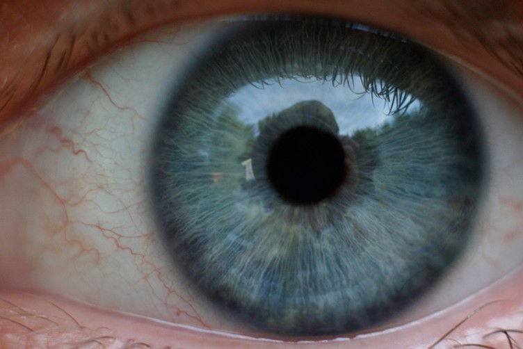 human eye, photo by Andy Langager