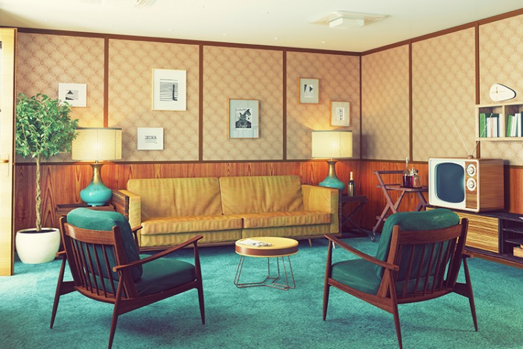 retro vintage living room