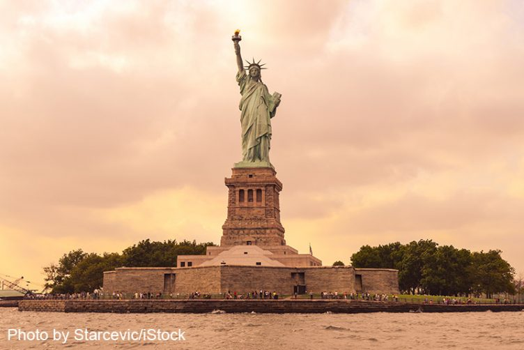 Statue of Liberty, Ellis Island. Photo by Starcevic/iStock
