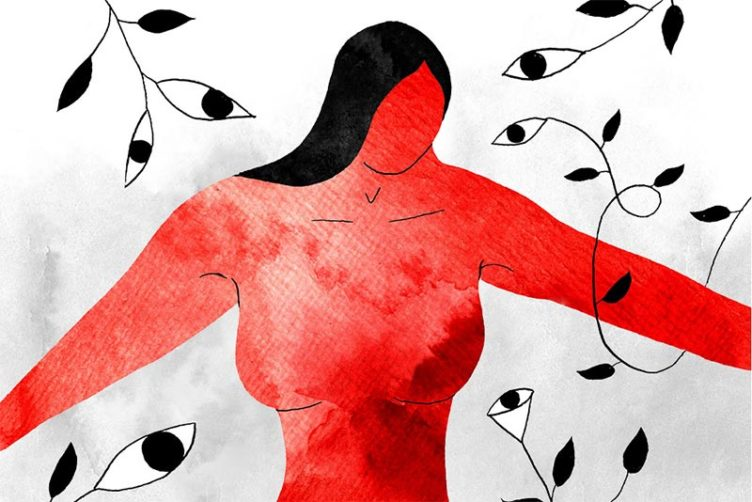 Illustration about innovative breast tumor imaging research