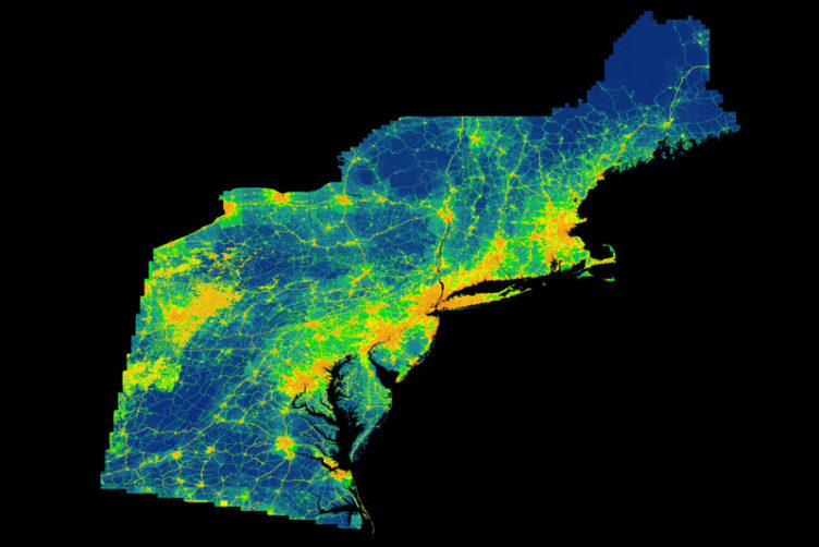 ACES CO2 map visualizing carbon dioxide CO2 emissions in Rhode Island