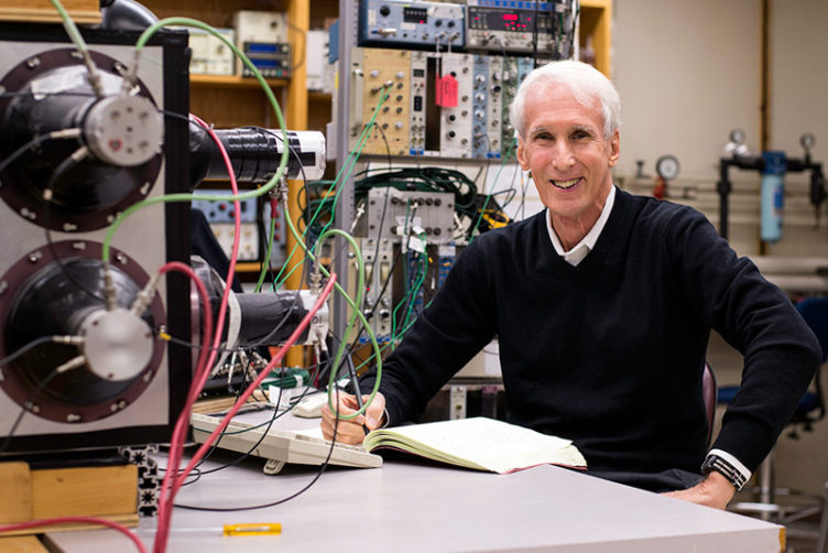 Larry Sulak, David M. Myers Distinguished Professor and College of Arts & Sciences chairman emeritus of physics at Boston University, and winner of the 2018 W.K.H. Panofsky Prize in experimental particle physics