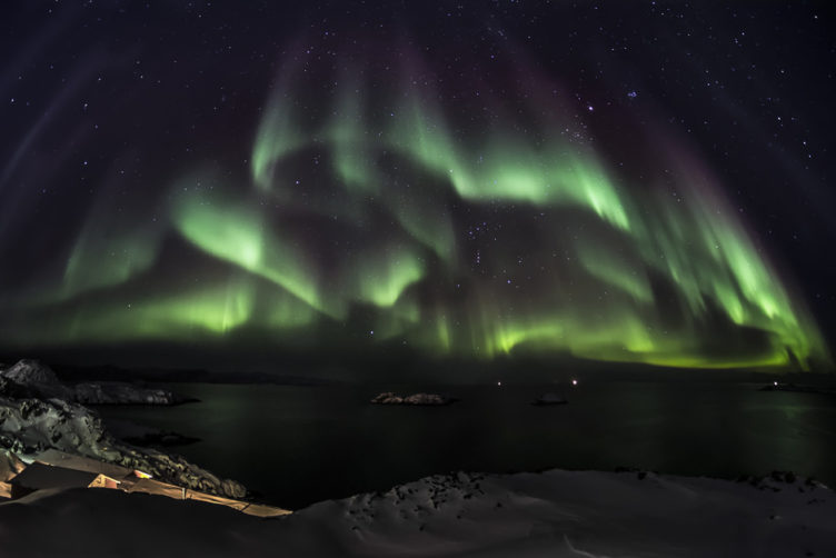 When charged particles from the sun hit the Earth's magnetic field, they can generate the dancing lights of the aurora. The ANDESITE mission will help reveal how the energy that creates the aurora passes from the Sun into Earth's atmosphere. Photo courtesy of Greenland Travel