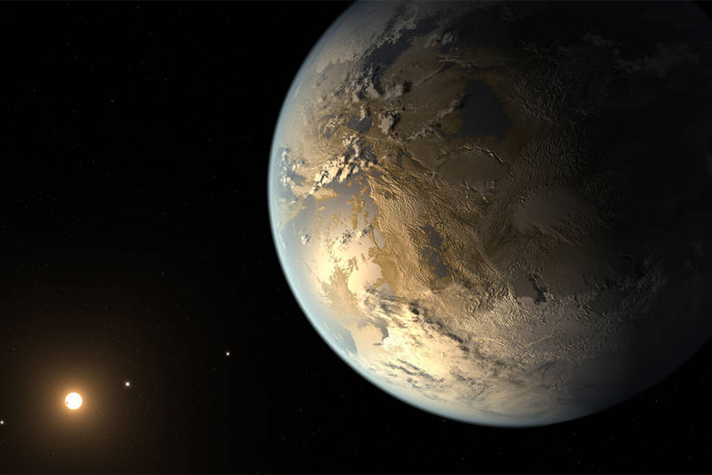 Artistic rendering of Kepler-186f, a potentially habitable exoplanet