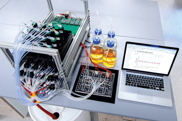 Entire eVOLVER platform for growing microbes in the lab
