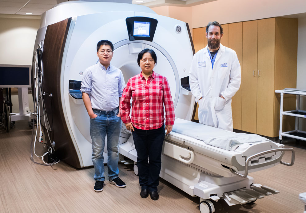 By combining their expertise, Xin Zhang, Stephan Anderson, Guangwu Duan, and Xiaoguang Zhao designed a magnetic metamaterial that can create clearer images at more than double the speed of a standard MRI scan.