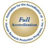 CRC IRB AAHRPP Full Accreditation Seal