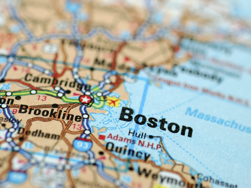 Map of Boston and environs