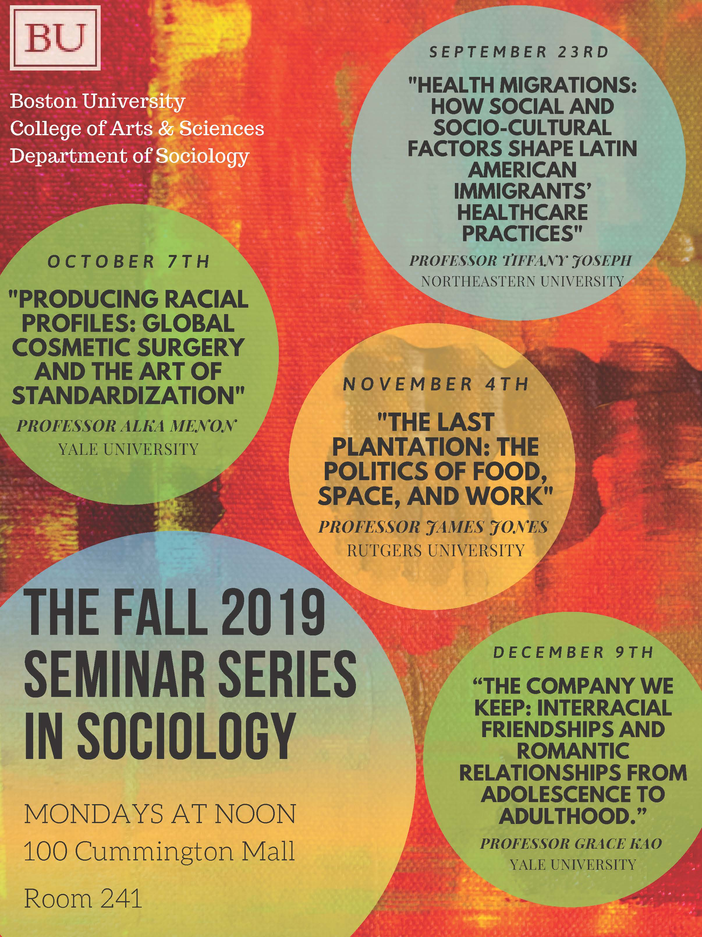 Seminar Series » Sociology | Boston University
