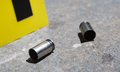 bullet casings at crime scene