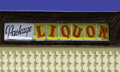 Liquor store sign on Route 66