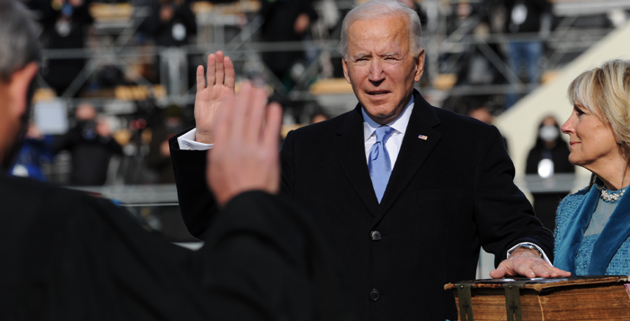 Joe Biden is sworn in as the 46th President of the United States on January 20, 2021. Public Domain